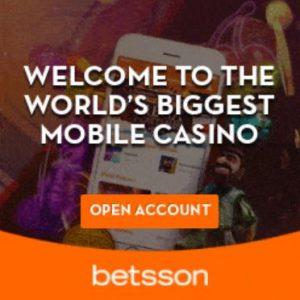 Betsson Casino Mobile Gaming